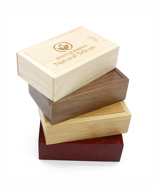 Custom engraved wooden slide box