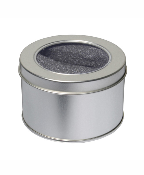 Round USB metal tin