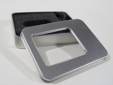 USB Square Tin with Window